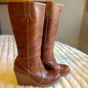 Michael Kors Wedge Leather Boots